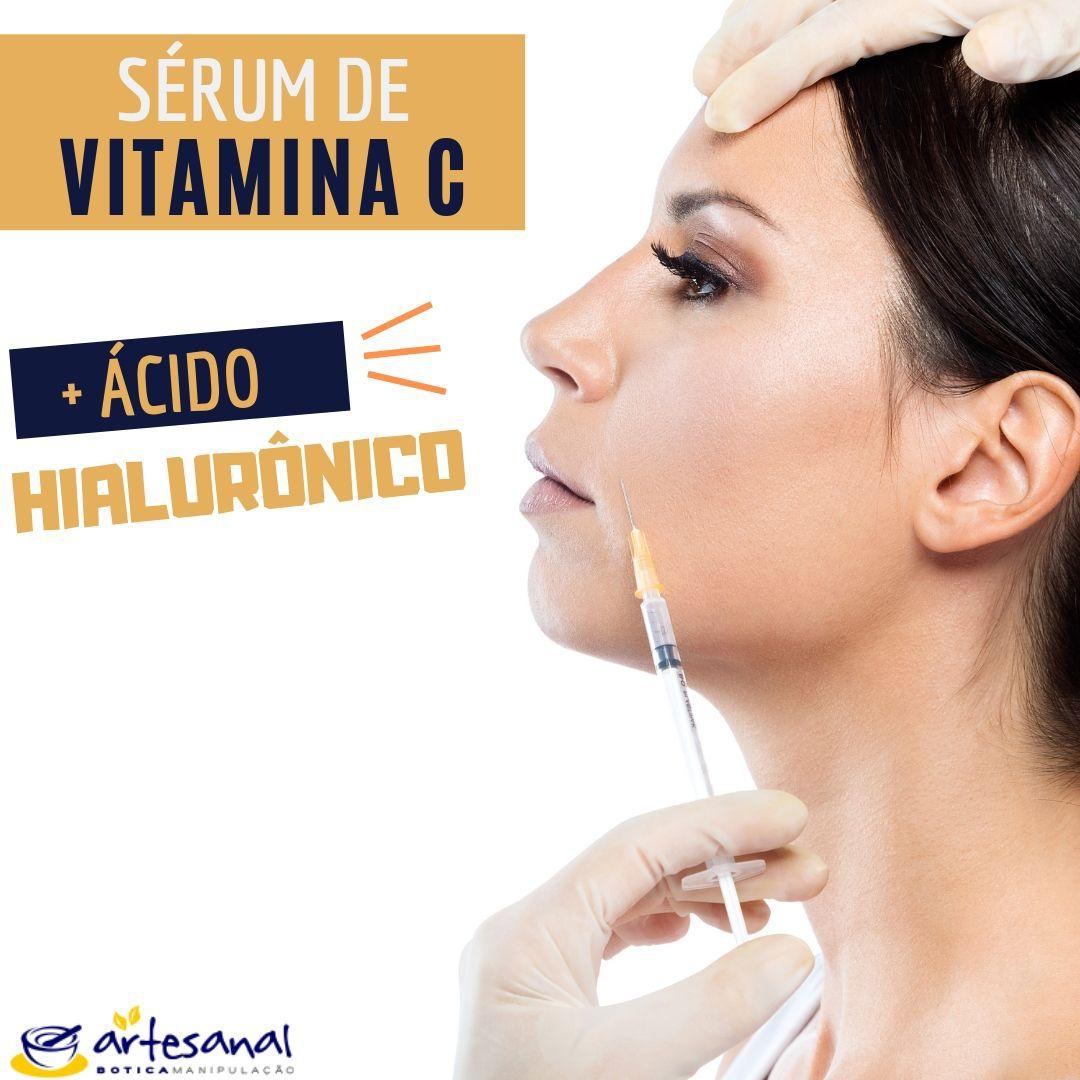 Sérum de Vitamina C + Ácido Hialurônico - 20ml
