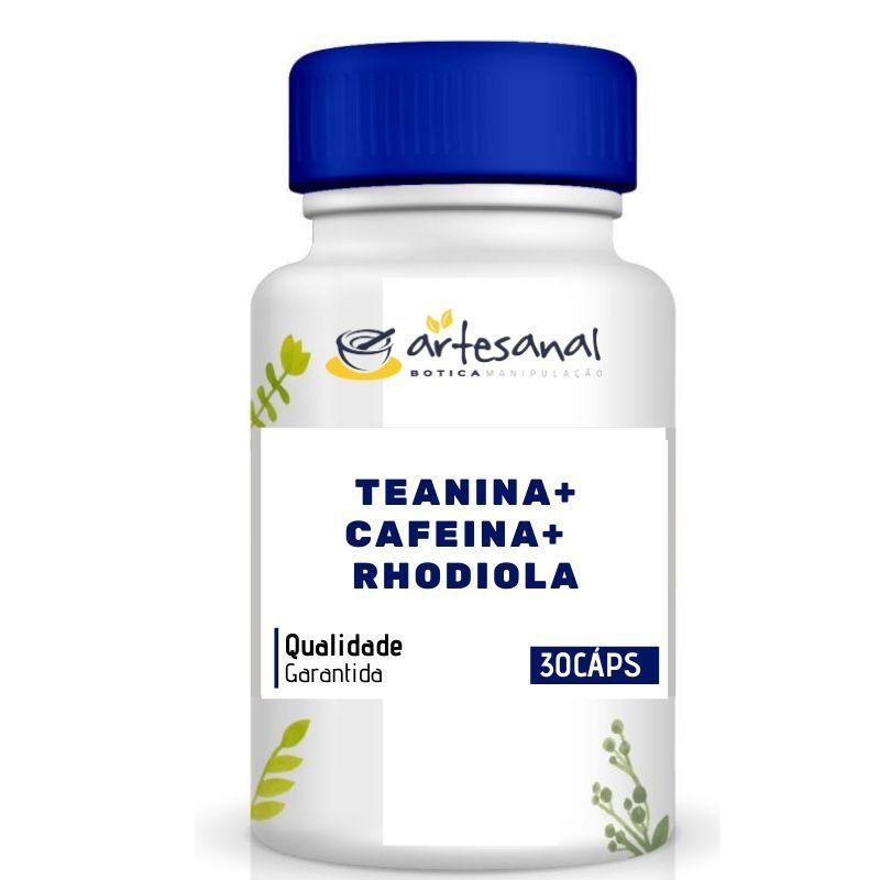 Teanina + Cafeína + Rhodiola - 30 cápsulas