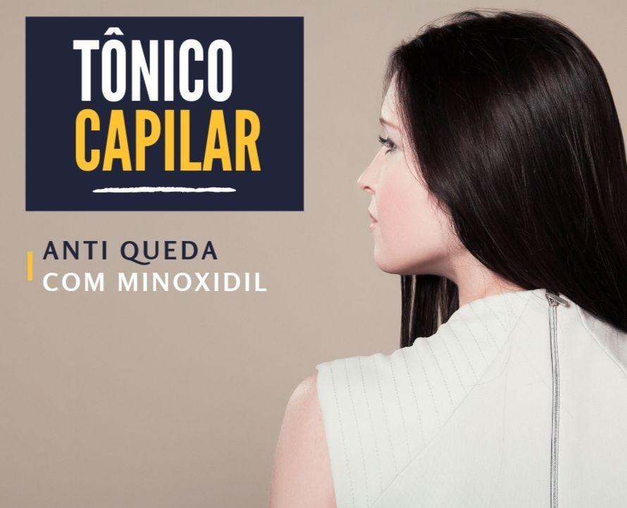 Tônico Capilar Anti Queda com Minoxidil - 30ml - Artesanal Botica