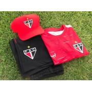 Kit dos pais (camisa concentração + bermuda + boné + caixa)