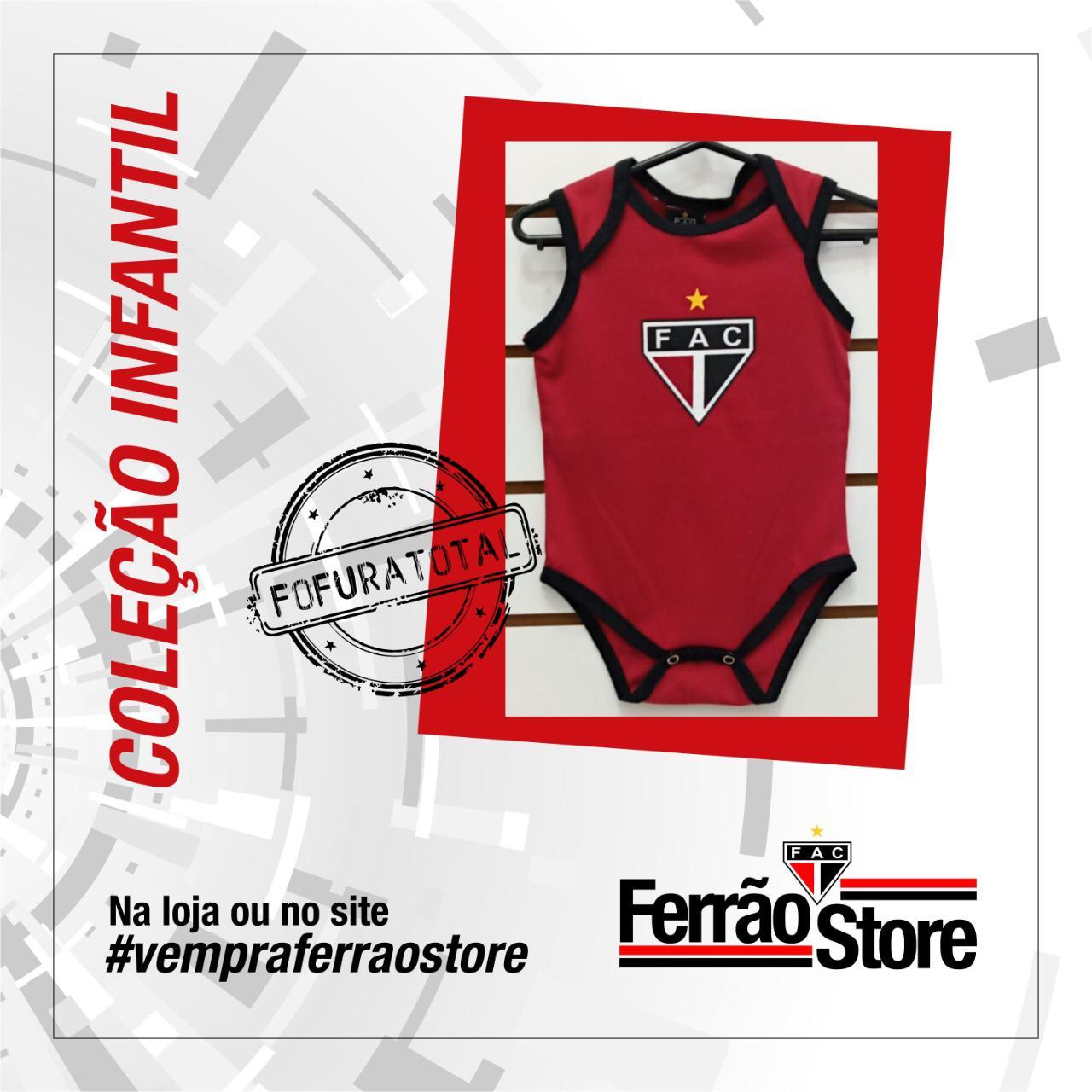 Body Infantil vermelho  - Ferrão Store