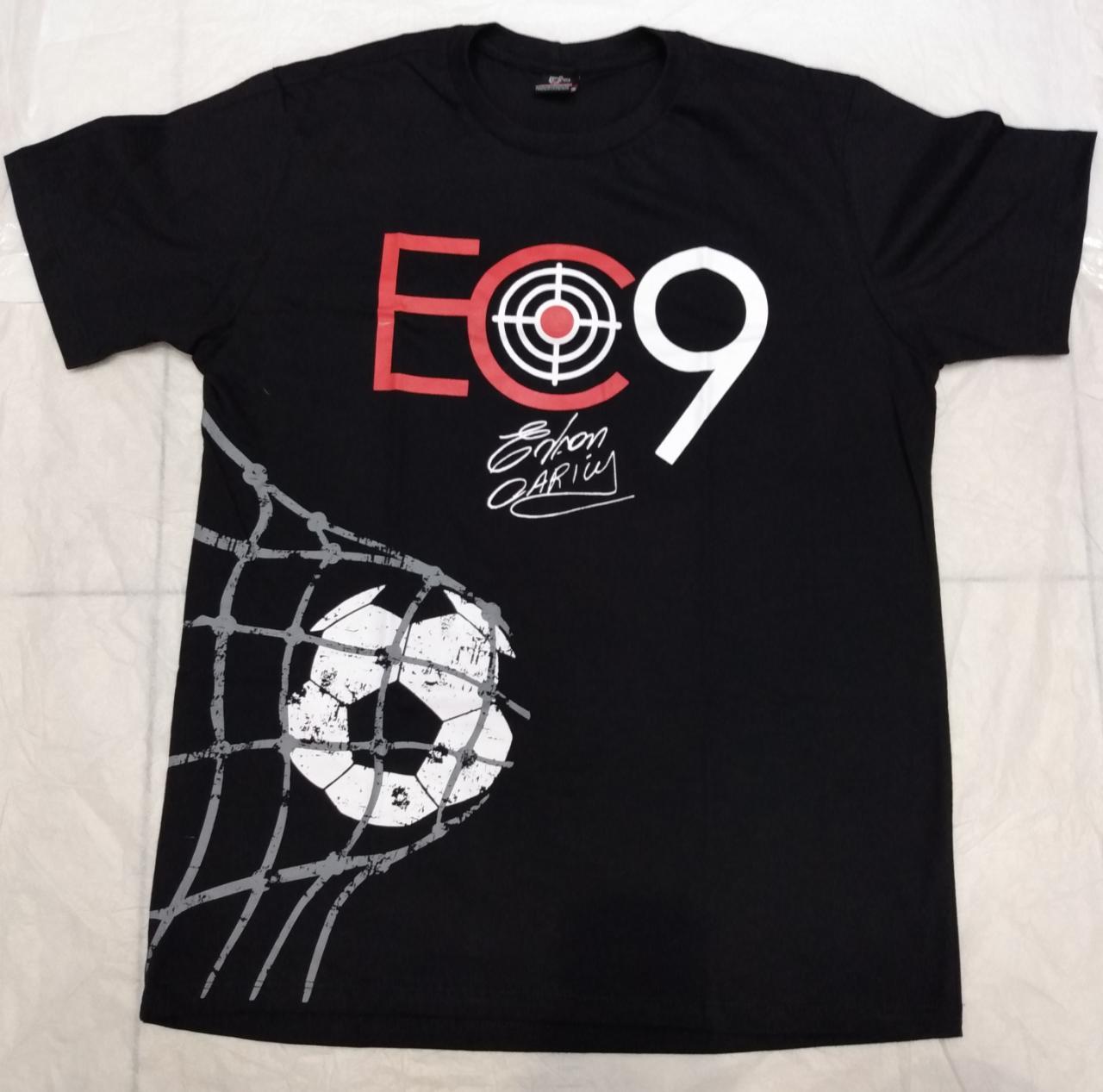 Camisa EC9 preta bola na rede  - Ferrão Store