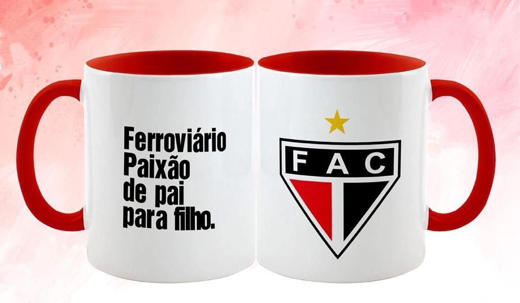 Caneca Cerâmica 325ml (FERROVIÁRIO PAIXÃO DE PAI PARA FILHO.)  - Ferrão Store