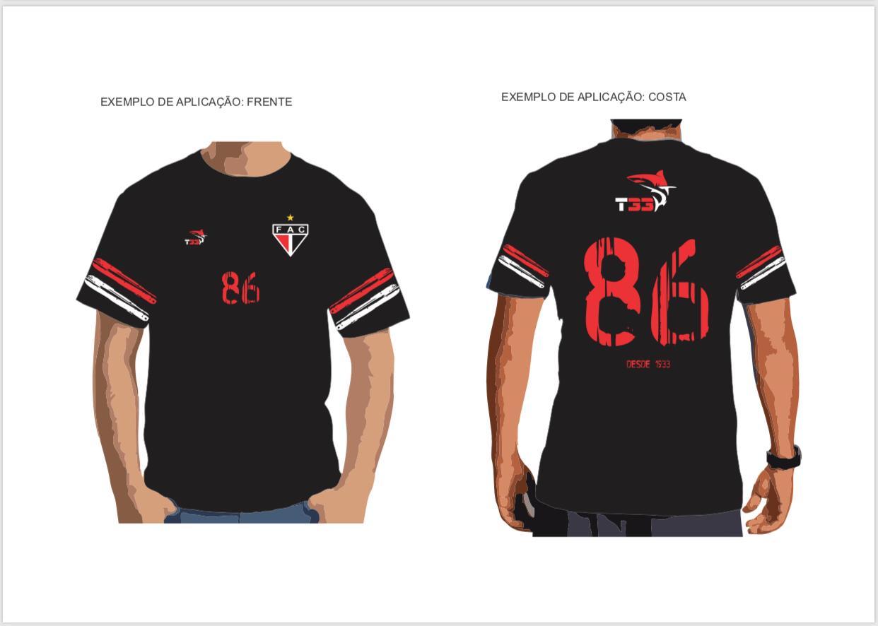 T-Shirt Fio 30 penteado , Camisa Comemorativa 86 anos  - Ferrão Store