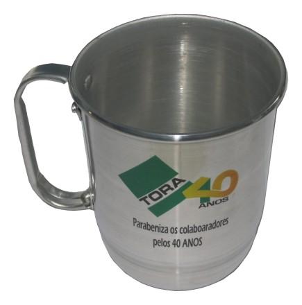 Caneca de Chopp Alumínio Personalizada - Kit com 20 Unidades  - Bolas Lassabia - Bolas de Futebol e Volei