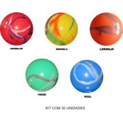 Bolas de Vinil Marmorizadas 33 CM -  Kit com 30