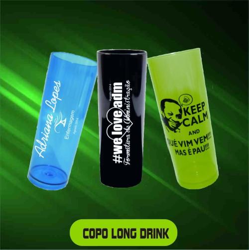 Copo Long Drink Personalizado - Kit com 20 Un.  - Bolas Lassabia - Bolas de Futebol e Volei