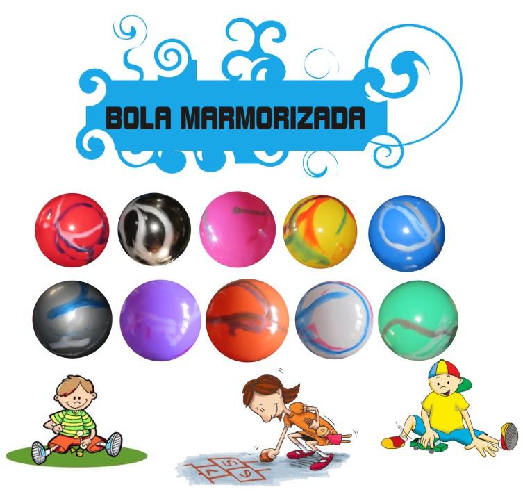 Kit 50 bolas de Vinil 33 cm Marmorizadas  - Bolas Lassabia - Bolas de Futebol e Volei