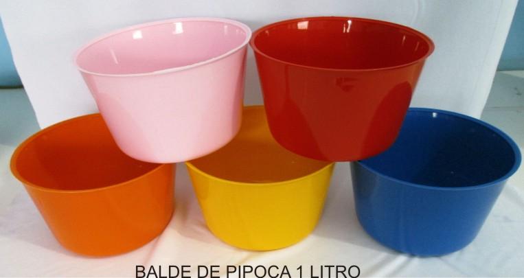 Balde de Pipoca  - Kit com 10 unidades  - Bolas Lassabia - Bolas de Futebol e Volei