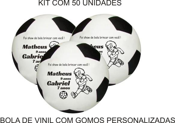 Bola de Vinil 23 cm com gomos Personalizadas  - Bolas Lassabia - Bolas de Futebol e Volei