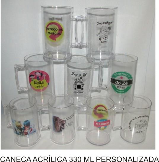 Canecas Personalizadas Acrilica Kit com 50   - Bolas Lassabia - Bolas de Futebol e Volei
