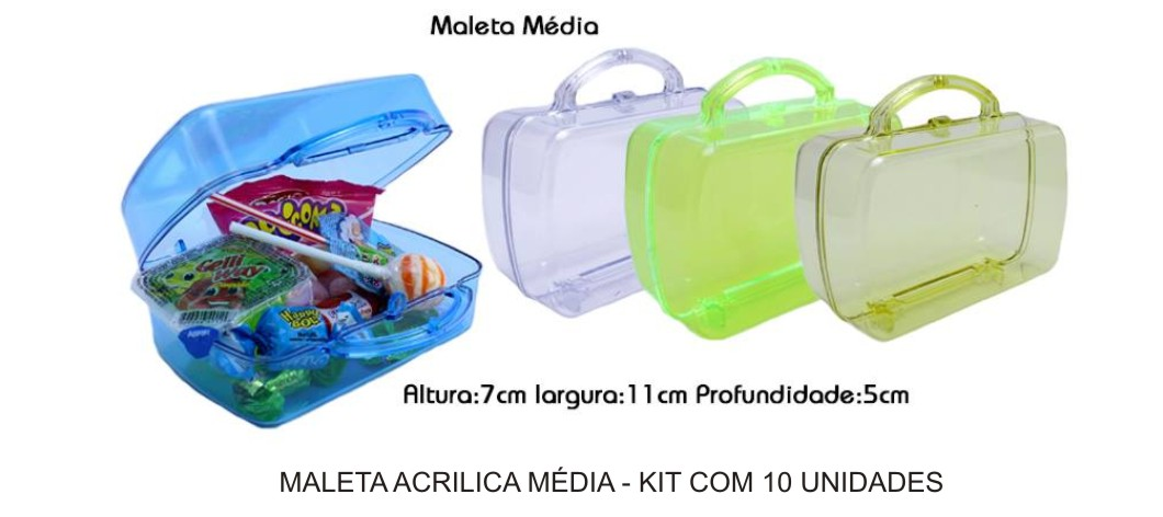 Maleta Acrílica Média - Kit com 10 Unidades  - Bolas Lassabia - Bolas de Futebol e Volei