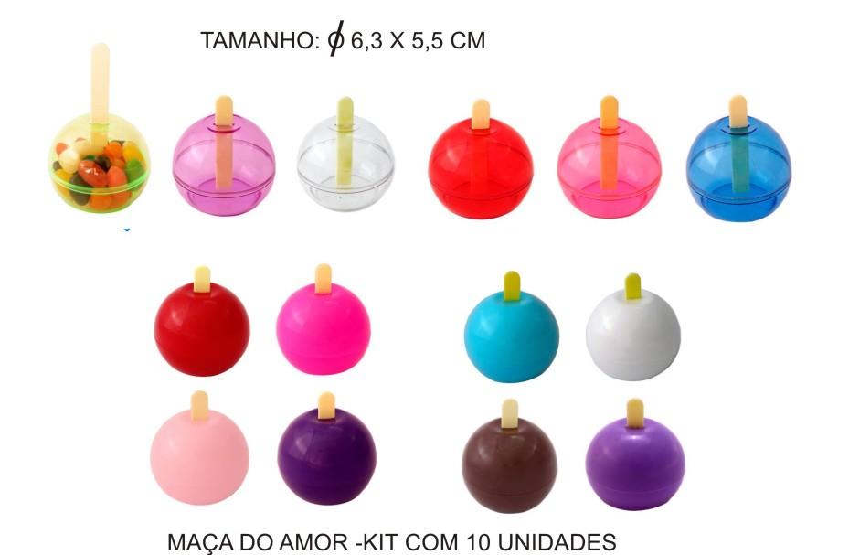 Maça do Amor - Kit com 10 Unidades  - Bolas Lassabia - Bolas de Futebol e Volei