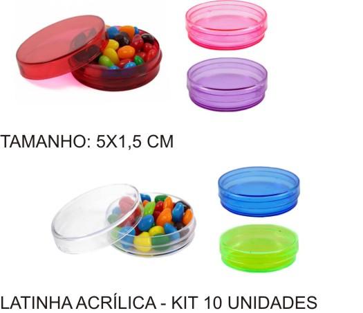 Latinha Acrílica 05 x 1,5 cm - Kit 30 Unidades  - Bolas Lassabia - Bolas de Futebol e Volei