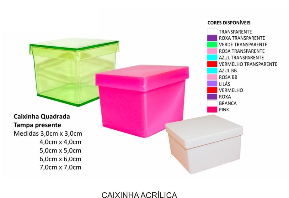 Caixinha Acrílica 4 x 4 cm    - Kit 30 Unidades  - Bolas Lassabia - Bolas de Futebol e Volei