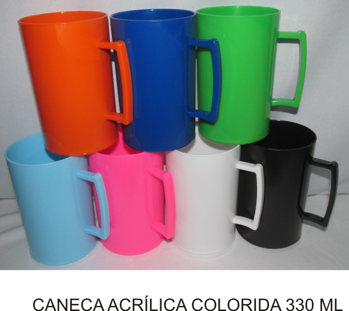 Caneca Acrílica Colorida Personalizada - Kit 20 unidades  - Bolas Lassabia - Bolas de Futebol e Volei