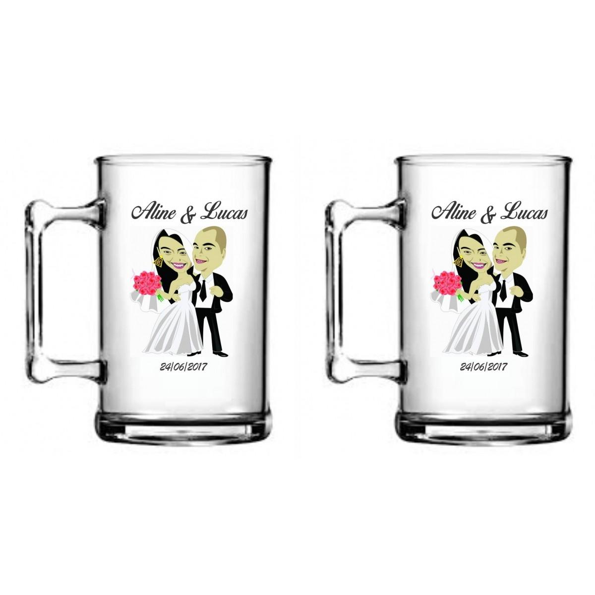 Caneca Acrílica 330 ml Personalizada - Casamento - Kit com 50 unidades  - Bolas Lassabia - Bolas de Futebol e Volei