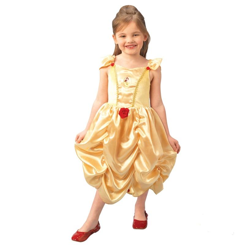 Fantasia Bela Infantil Vestido Princesa Disney