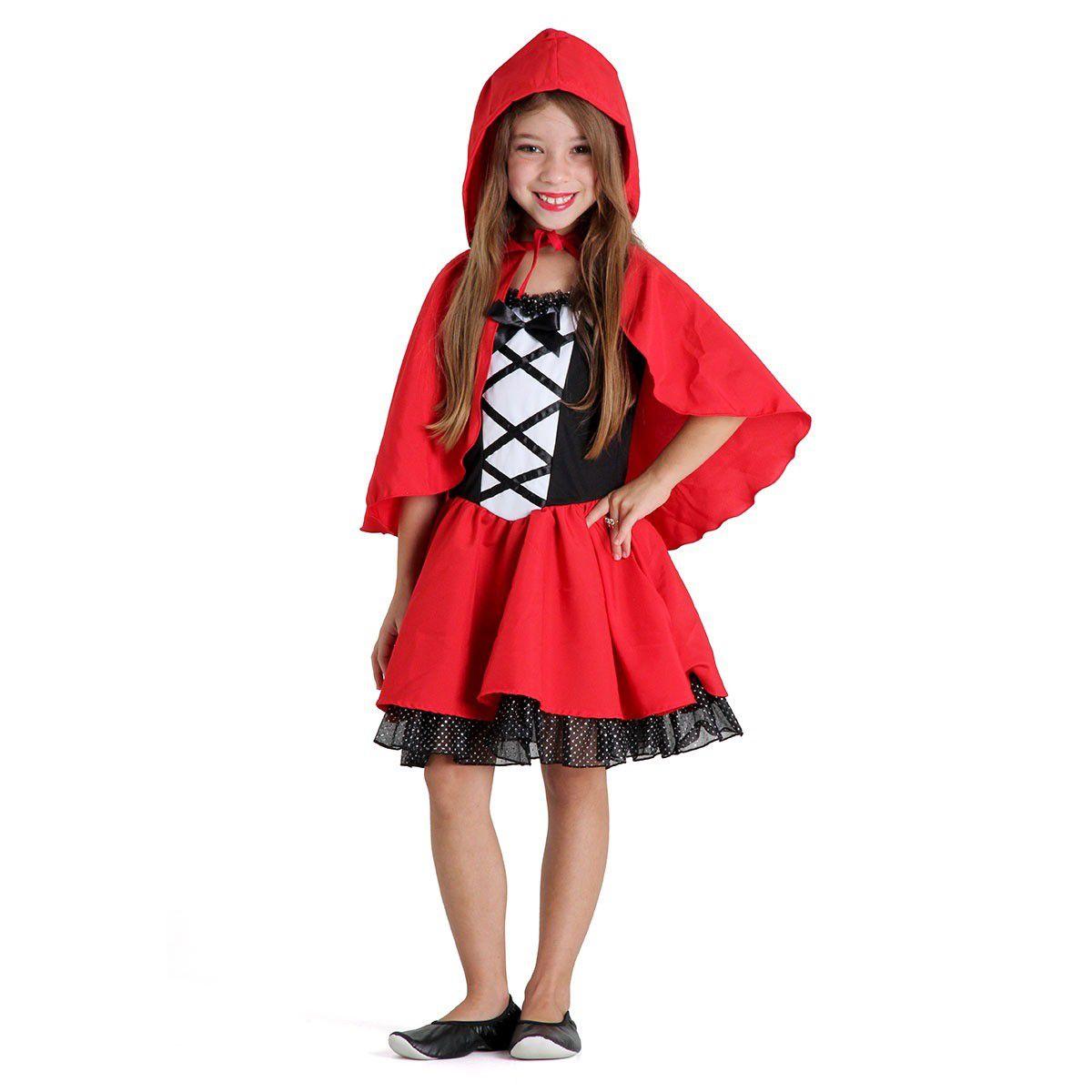 Fantasia Chapeuzinho Vermelho Infantil Luxo