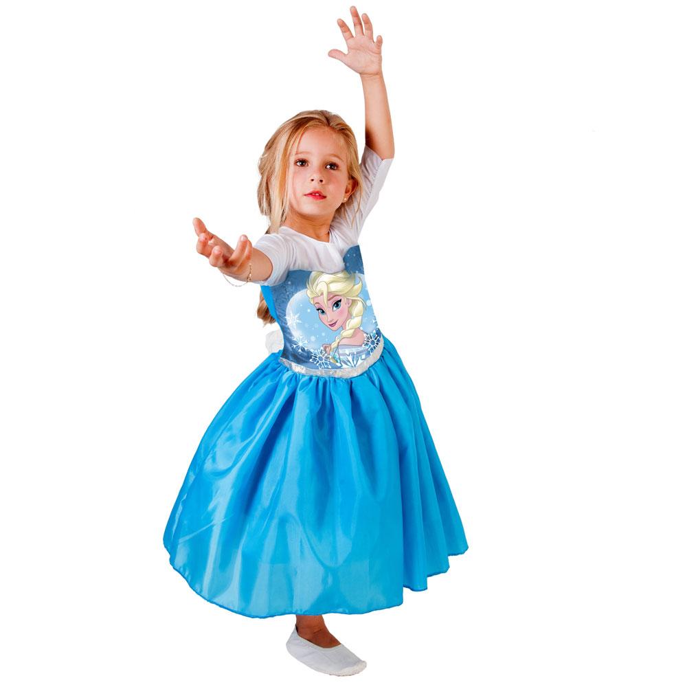 Fantasia Elsa Frozen Infantil Vestido Standard Princesa Disney