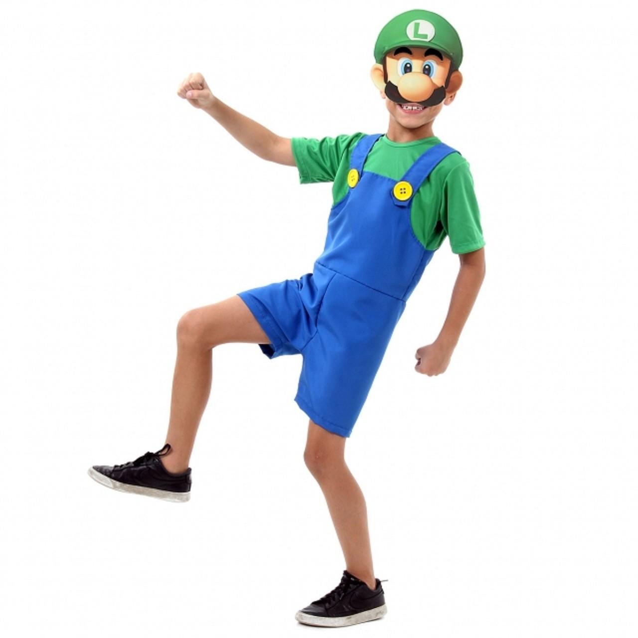 Fantasia Luigi Infantil Curto