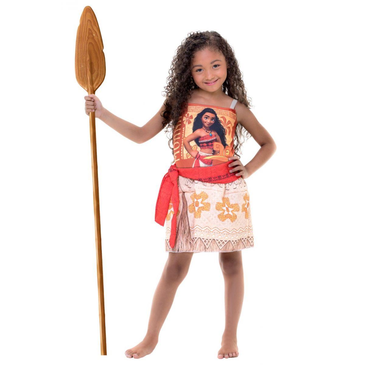 Fantasia Moana Infantil Personagem Vestido Princesa Disney