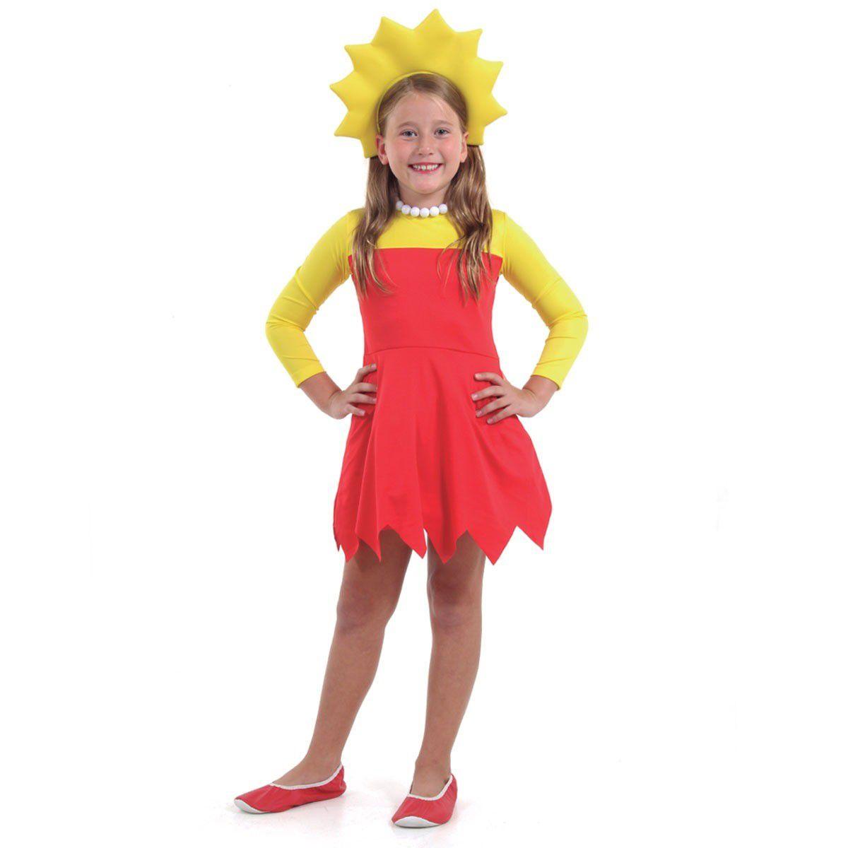 Fantasia Os Simpsons Lisa Infantil