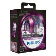 Kit Lampadas Philips Color Vision H4 Purple - Roxa