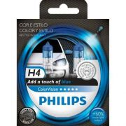Kit Lampadas Philips Color Vision H4 Blue - Azul