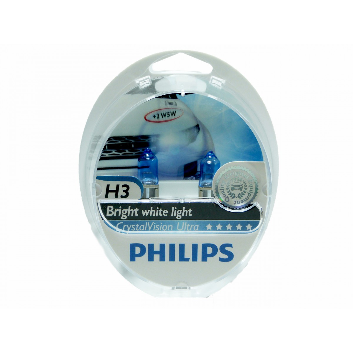 Kit Lampadas Philips Crystal Vision H3 Super Branca