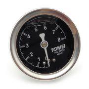 Manômetro de linha de combustível Tomei 8 bar com gel interno 47MM
