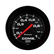 Manômetro Pressão de Combustível Cronomac 52MM  - Street