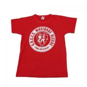 Camiseta clássica com manga logo Mocidade alegre
