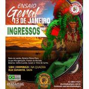 INGRESSO ENSAIO - 13/01/2019