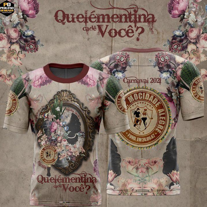 Camiseta  Carnaval 2021 - Quelémentina, Cadê Você?  - Mocidade Alegre