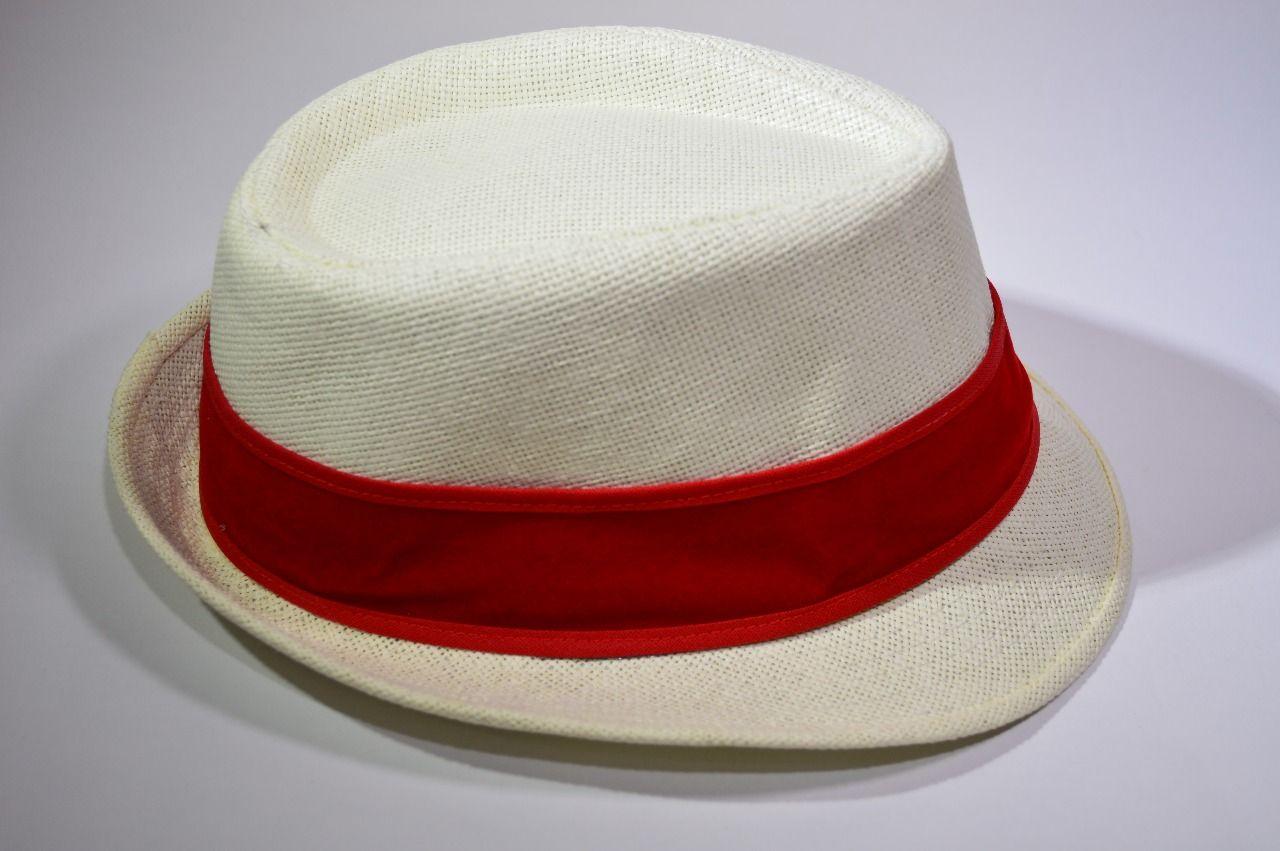 Chapéu Branco - tipo Panamá logo Mocidade Alegre  - Mocidade Alegre
