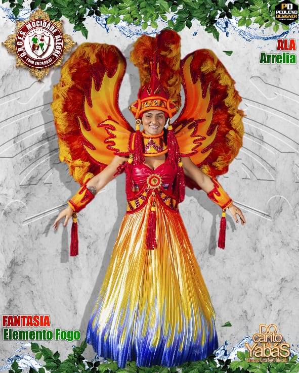 FANTASIA  ELEMENTO FOGO FEMININA - ALA 16  - Mocidade Alegre