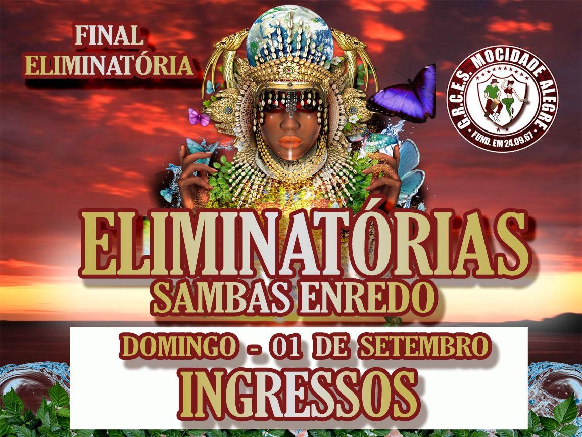 INGRESSOS - FINAL DE SAMBA ENREDO - 01-09-2019 -CARNAVAL 2020  - Mocidade Alegre