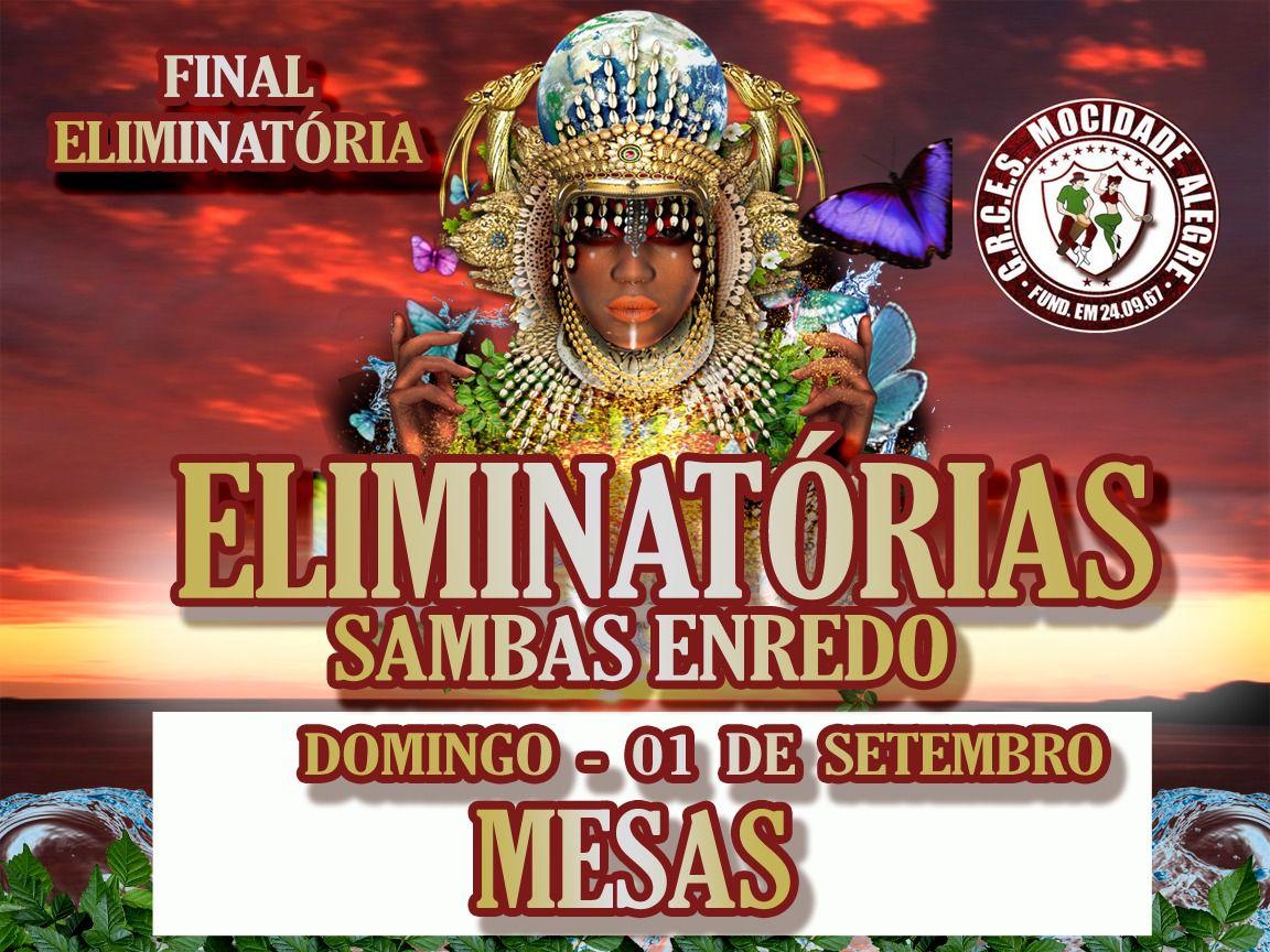 MESAS - FINAL DE SAMBA ENREDO - 1 a 30 lado bares  - Mocidade Alegre