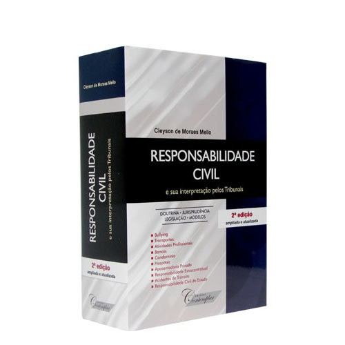 Resposabilidade Civil 2ª Edição 2012 Cleyson de Moraes Mello  - Jurídica On Line