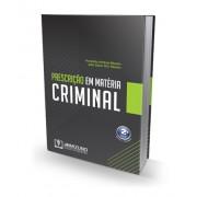 Prescrição em Matéria Criminal 2ª Edição