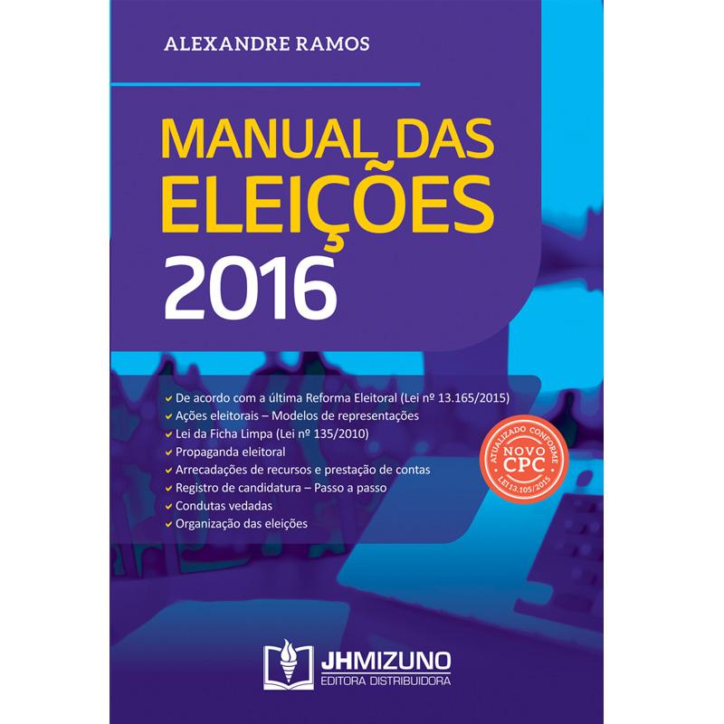 Manual das Eleições 2016  - Jurídica On Line