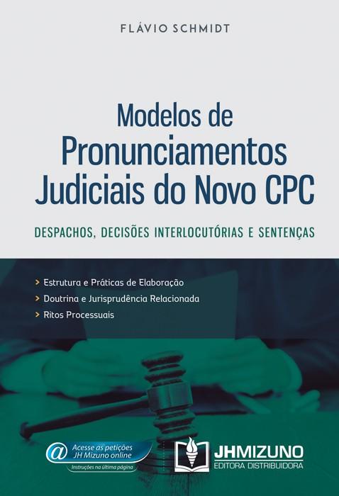 Modelos de Pronunciamentos Judiciais do Novo CPC  - Jurídica On Line