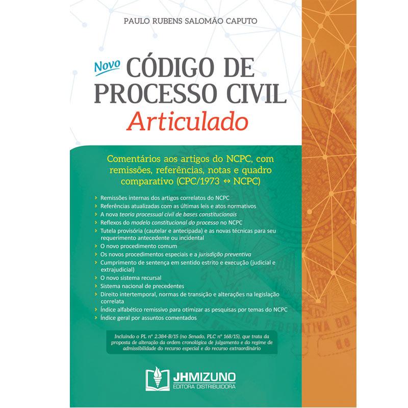 Novo Código de Processo Civil Articulado  - Jurídica On Line