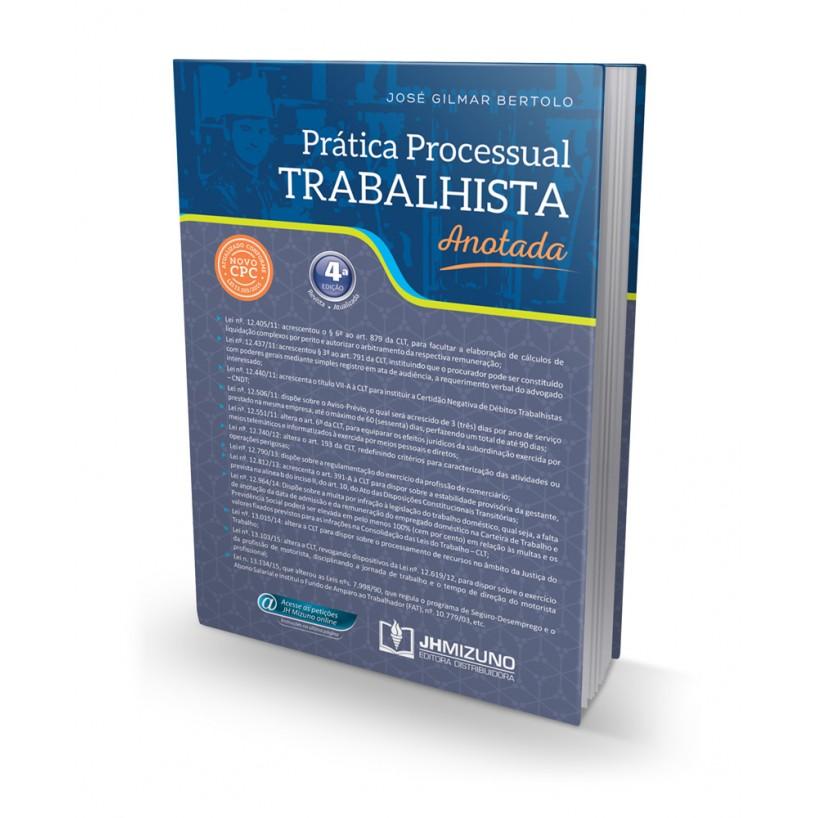 Prática Processual Trabalhista Anotada 4 edição 2015  - Jurídica On Line