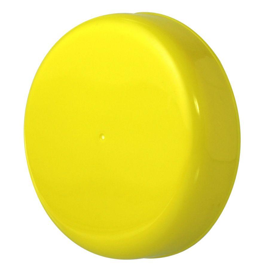 10 Tampa Plástica Amarela para Vidro de Palmito de 3 Litros para Pote com Boca de 110mm