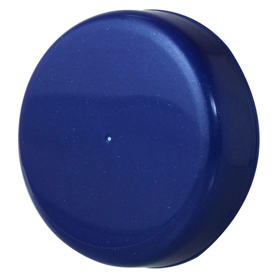 10 Tampa Plástica Azul Bic para Vidro de Palmito de 3 Litros para Pote com Boca de 110mm