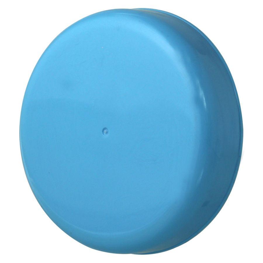 10 Tampa Plástica Azul para Vidro de Palmito de 3 Litros para Pote com Boca de 110mm