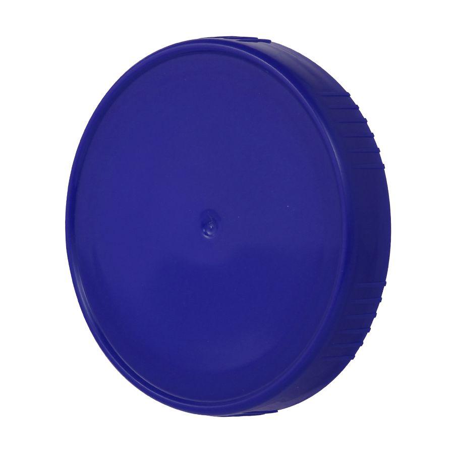 10 Tampa Plastica Azul para Vidro Pote Palmito 74mm 500ml