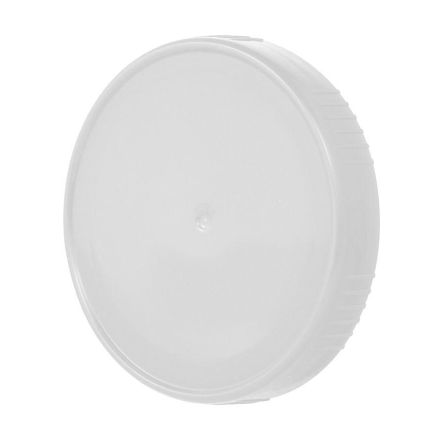 10 Tampa Plastica Branca para Vidro Pote Palmito 74mm 500ml